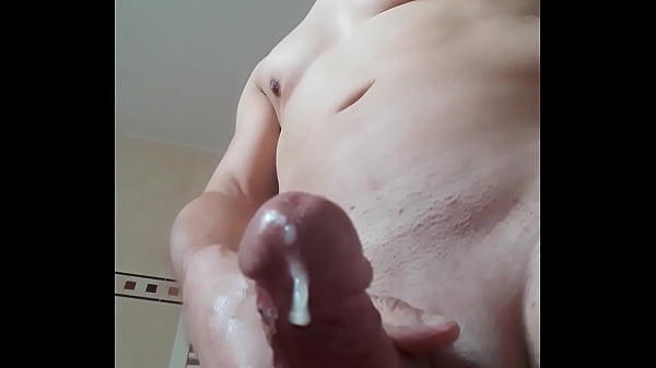 Bathroom, Huge cumshot