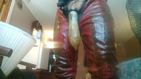 Condom, Leather, Farmer, Cum filled