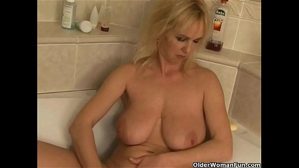 Bathroom, Big dildo, Old woman