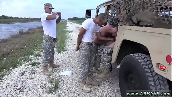 Old gay, Soldier, Spreading ass